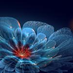 fractal albastru