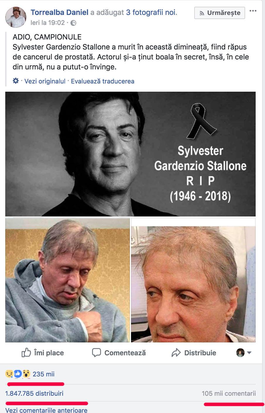 Sylvester facebook